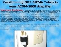 ACOM-1000 Conditioning tubes