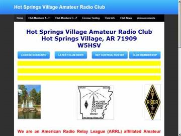 Hot Springs Village Amateur Radio Club
