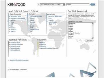 Kenwood Software download page