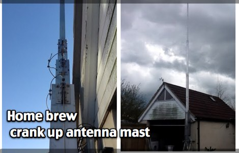 Home brew crank up antenna mast