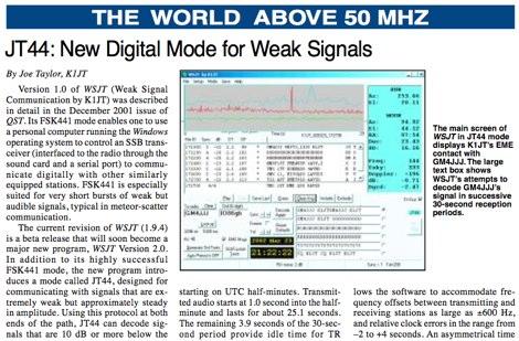 ARRL web: EME and  Weak Signals