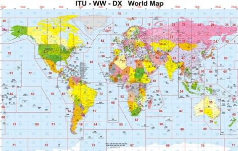 Best Ham Radio Maps Sites - Us map of ham radio call sign prefixes