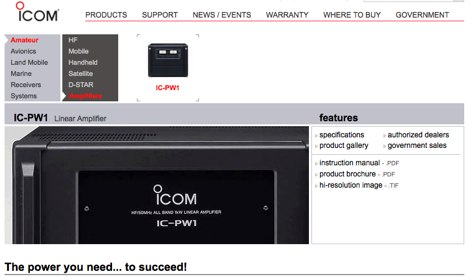 Icom PW-1 Linear Amplifier