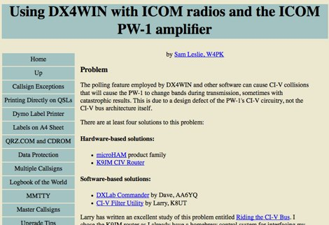 DX4Win and Icom PW-1