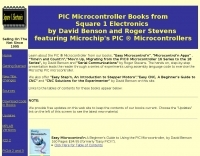 PIC Microcontroller Books from Square 1