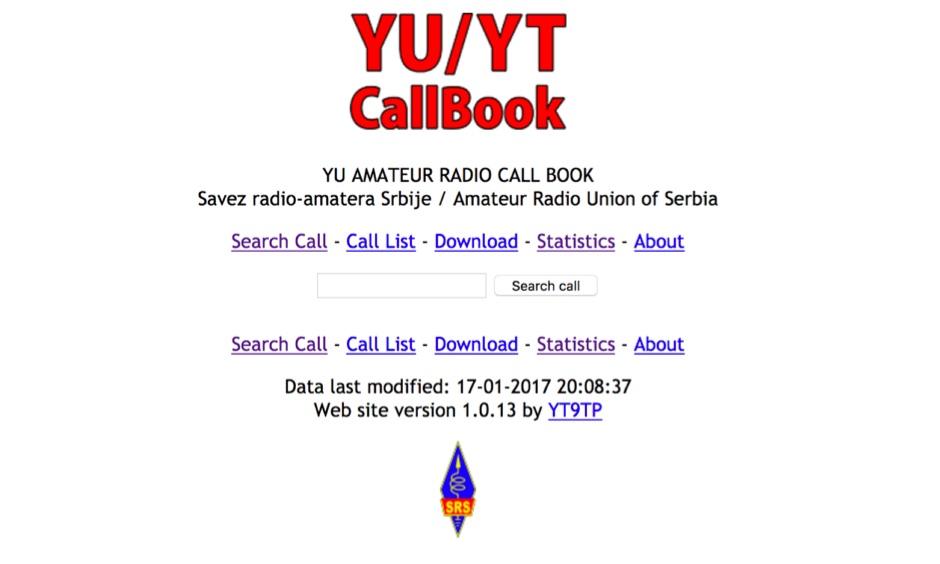 YU HAM-RADIO Call Book