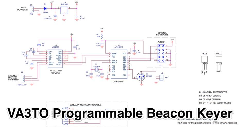 VA3TO Programmable Beacon Keyer