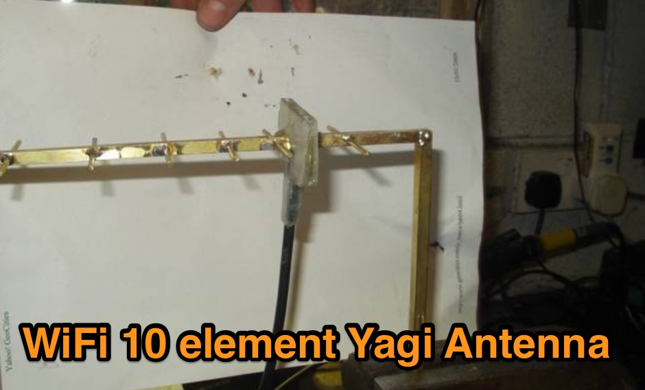 10 element Yagi WiFi Antenna