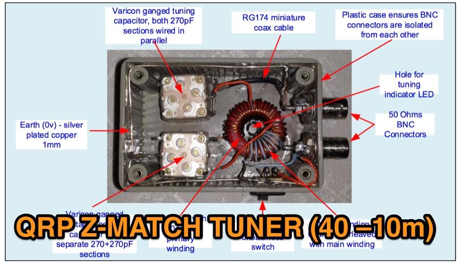 QRP Z-Match Tuner 40-10m - Resource Detail - The DXZone com