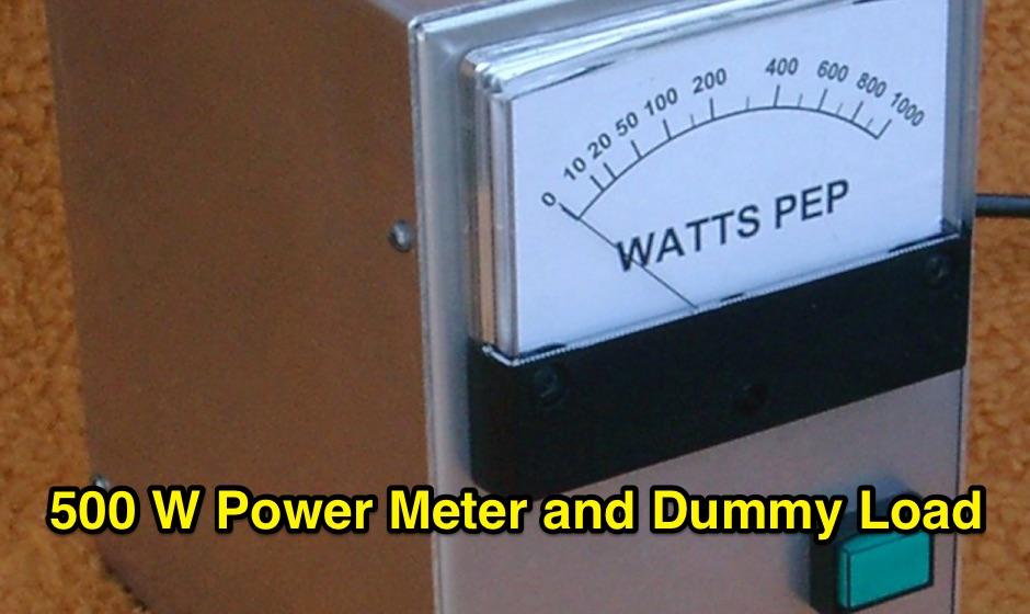 A 500 Watt HF Dummy Load and Power Meter - Resource Detail