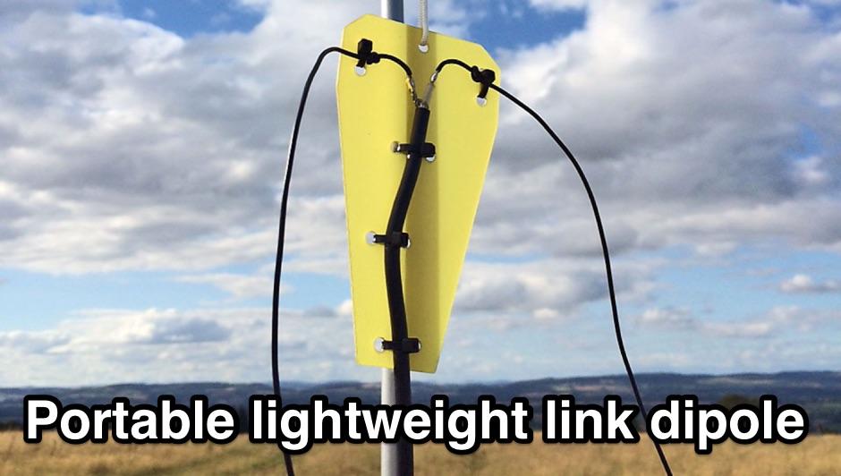 Portable lightweight link dipole