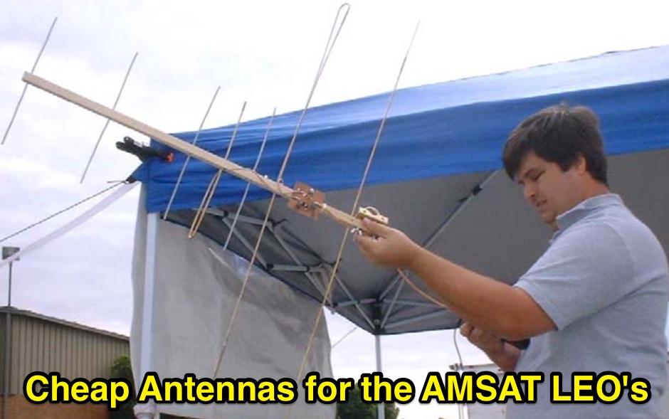 Cheap Antennas for LEO Satellites