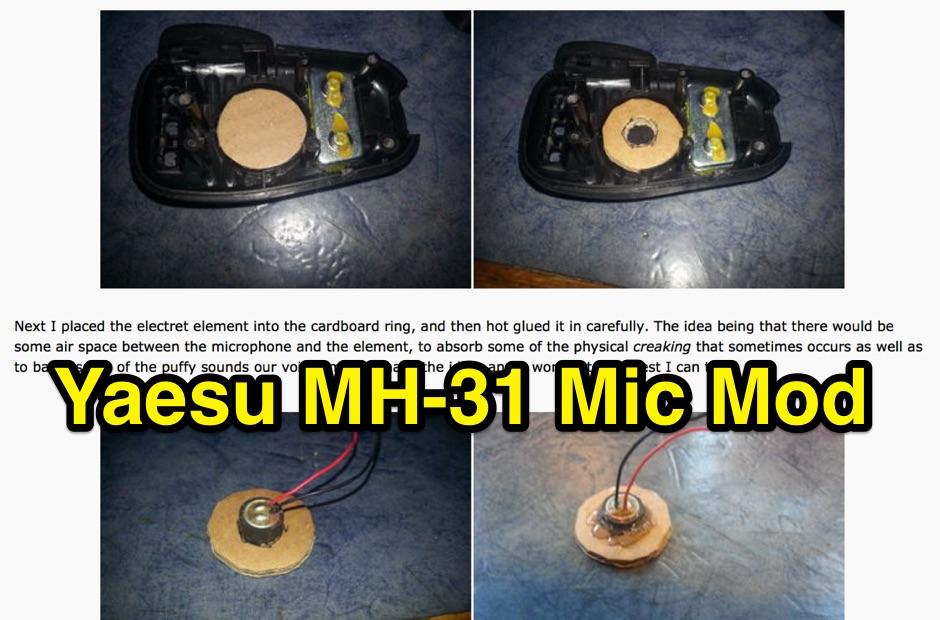 Yaesu MH-31 Mod