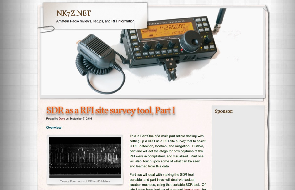 SDR as a RFI site survey tool