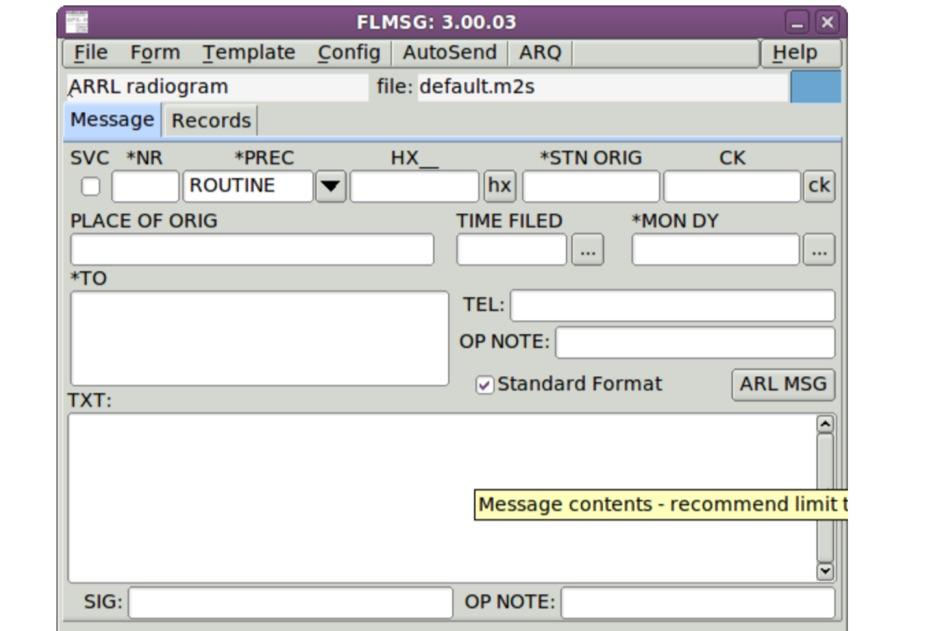 flmsg - Fast Light Message