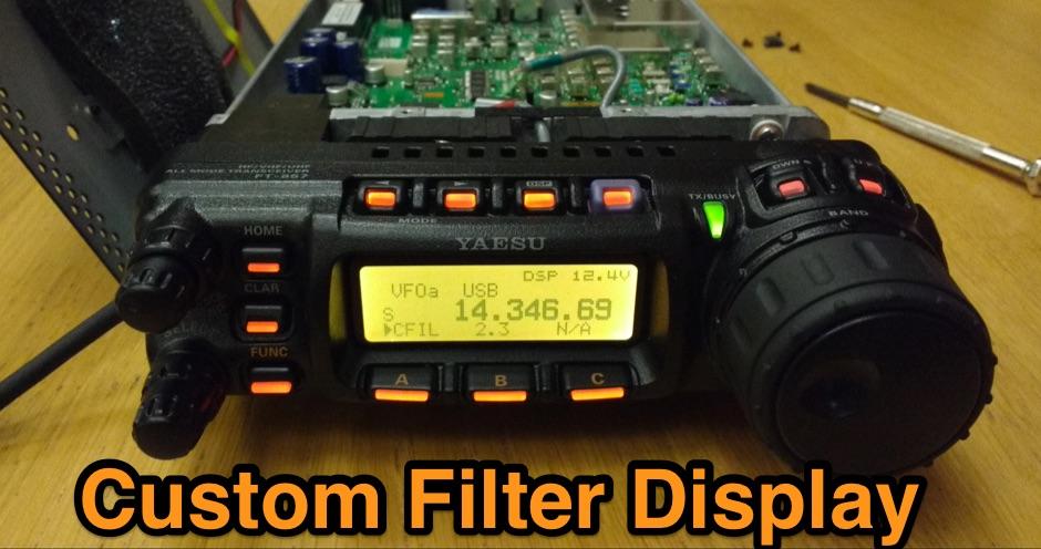 Yaesu FT-857/897 Custom Filter Display