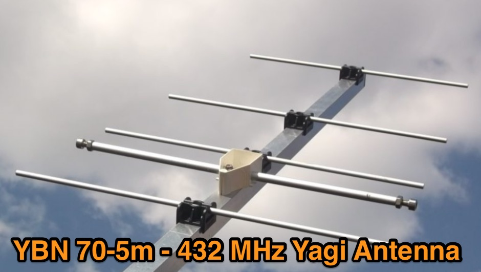 432 MHz 5 elements Yagi