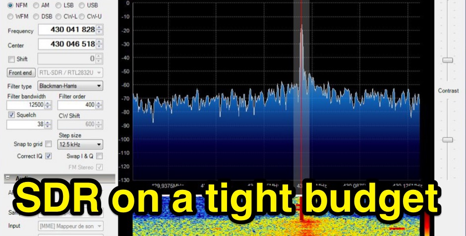 Software Defined Radio on a tight budget