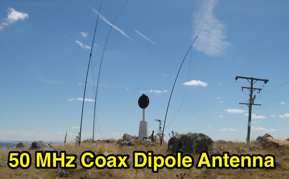 50 MHz Coax Dipole