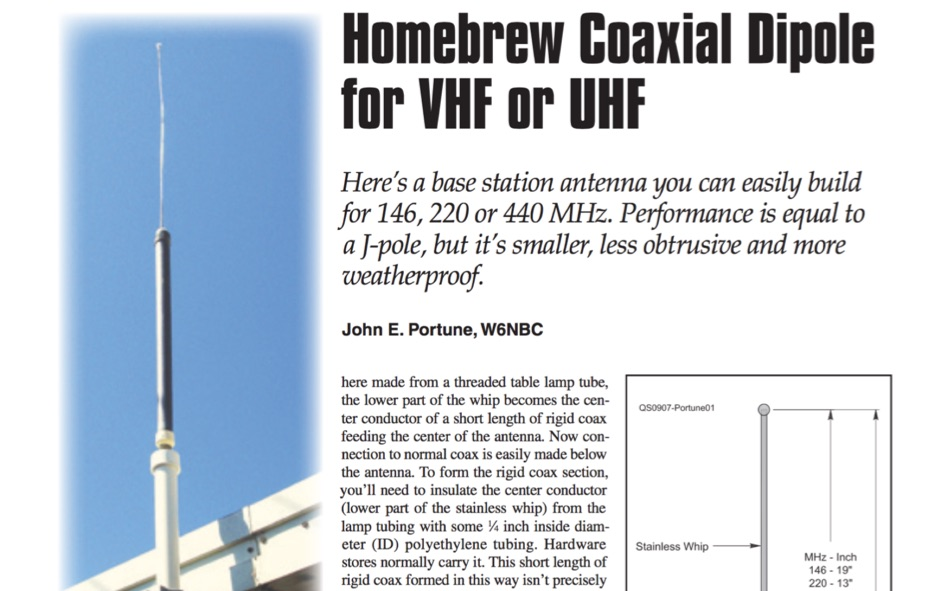 VHF UHF Coaxial Dipole Antenna - Resource Detail - The DXZone com