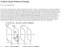 Cubical Quad Antenna Design
