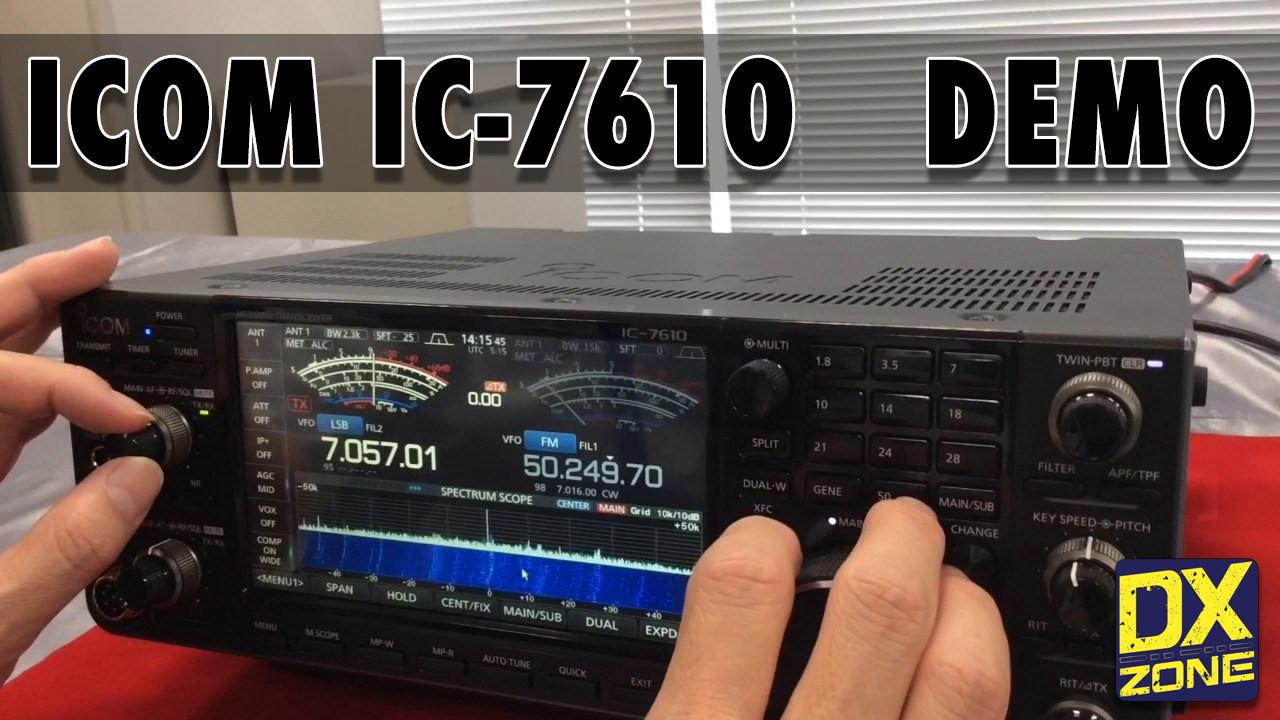 IC-7610 Demonstration Videos