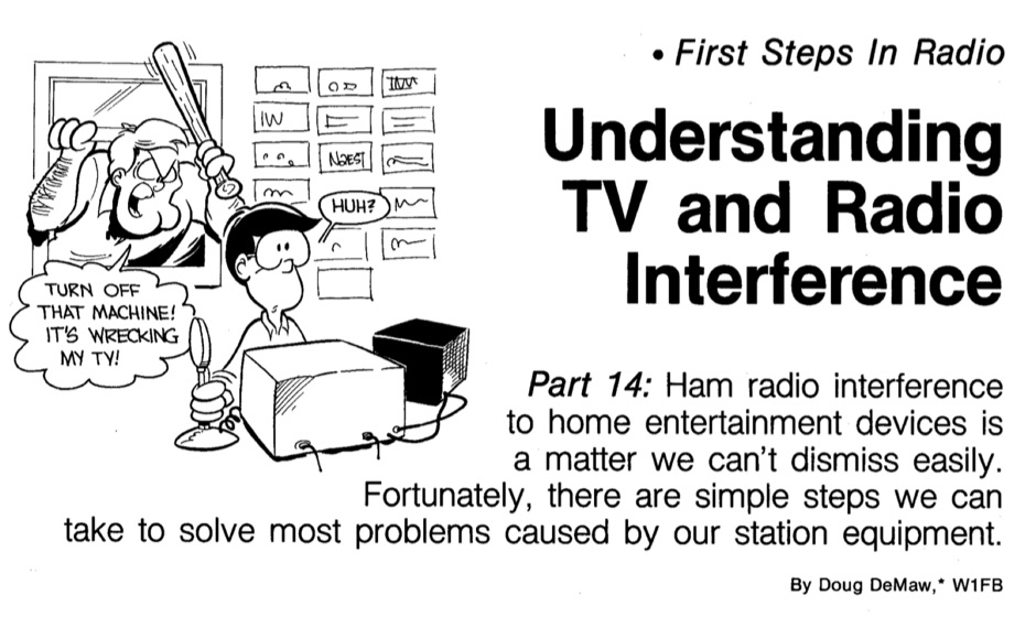 Undestanding TV and Radio interference