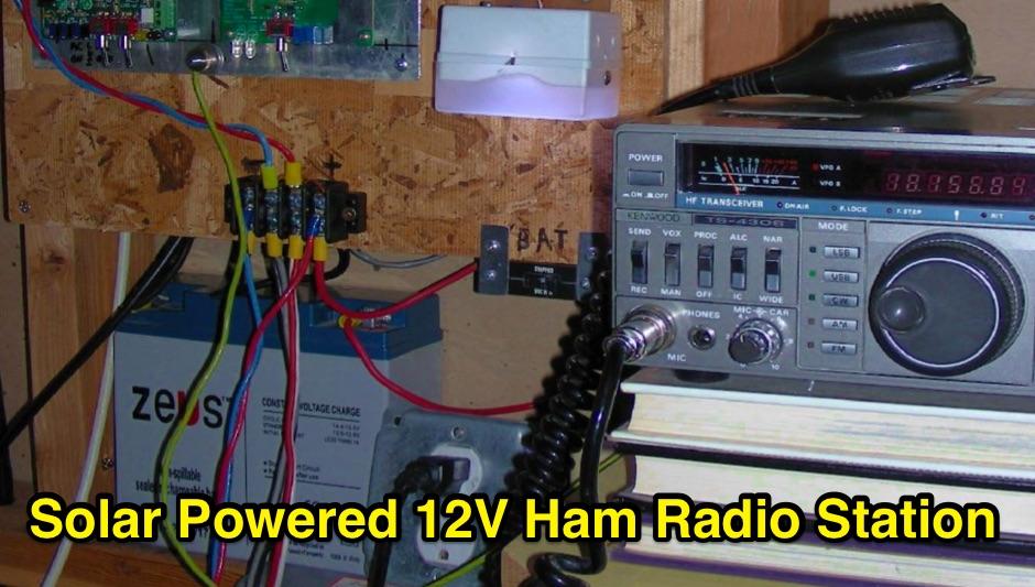 Solar Powered 12V Ham Radio Station