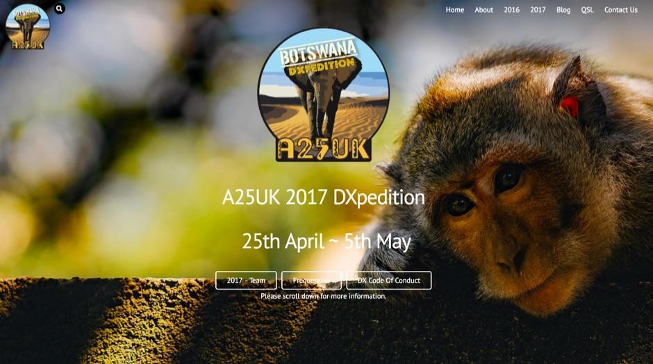 A25UK Botswana DXPedition