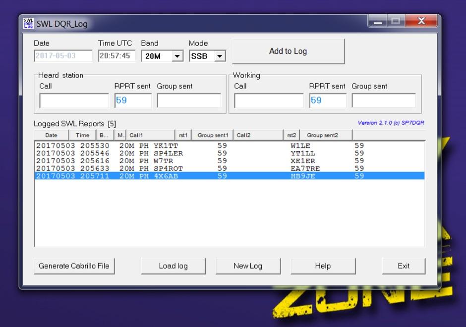 SWL DQR Log - Resource Detail - The DXZone com