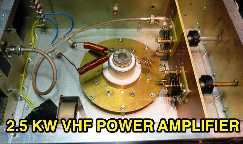 2.5KW VHF Power Amplifier