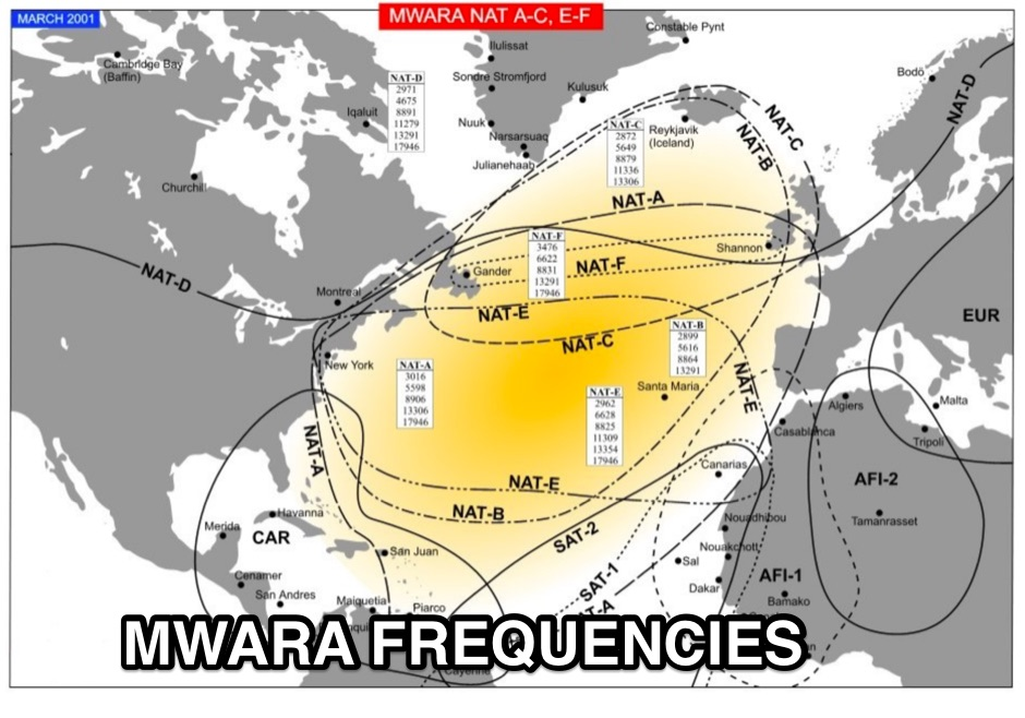 Major World Air Route Areas Frequencies