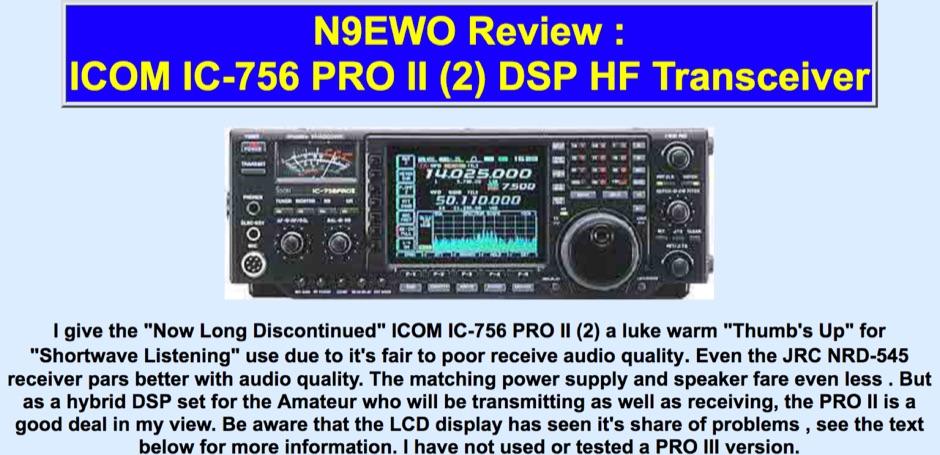 ICOM IC-756 PRO II Review