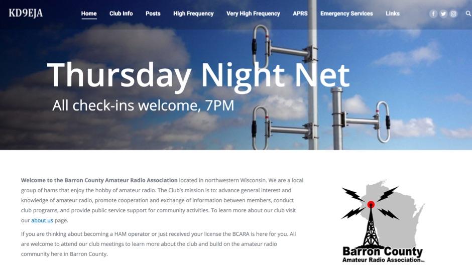 Barron County Amateur Radio Association