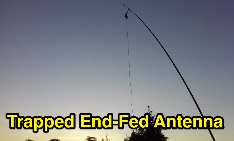 Multiband trapped end fed antenna