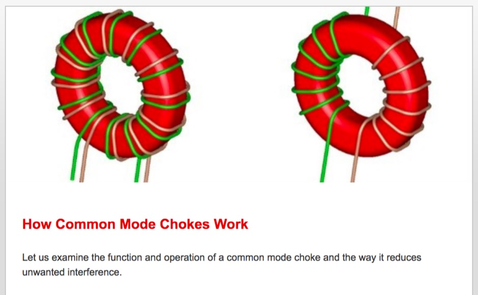 How Common Mode Chokes Work - Resource Detail - The DXZone com