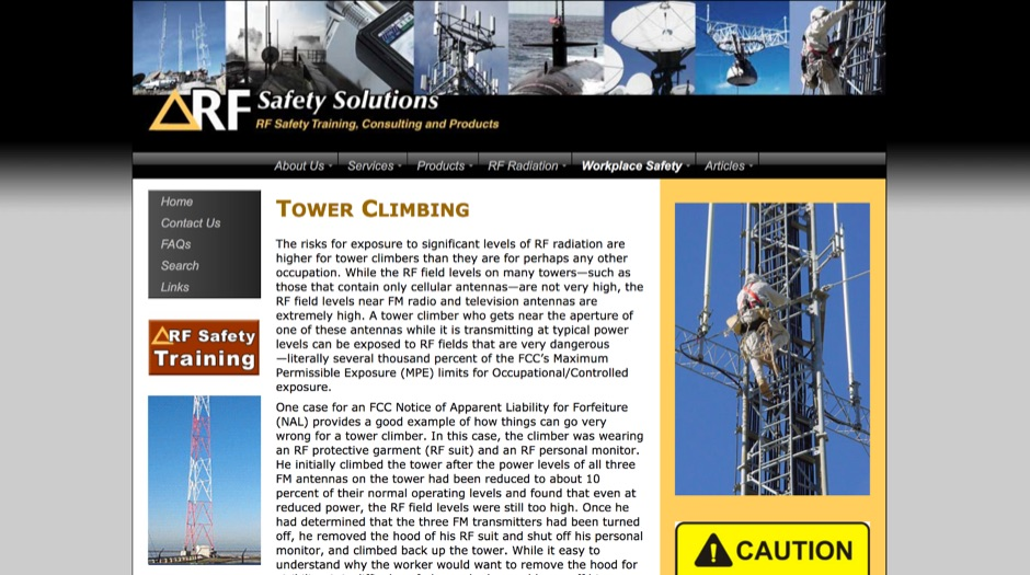 RF Safety in Tower Climbing