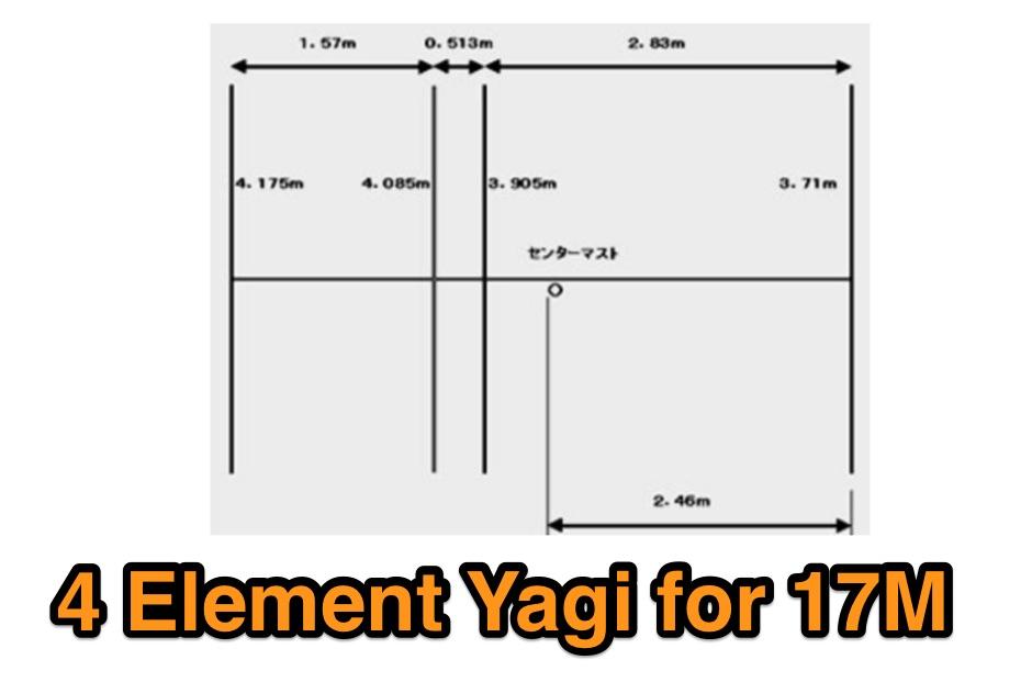 4 Element Yagi for 18 MHz