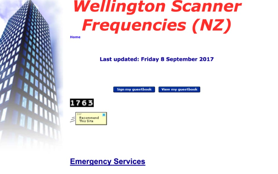 Wellington Scanner Frequencies - New Zealand