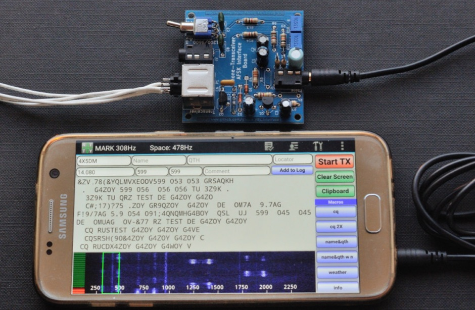 RTTY/AFSK Interface for Android Phone or Tablet