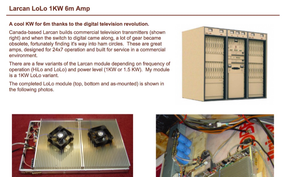 A cool KW linear amplifier for 50 MHz
