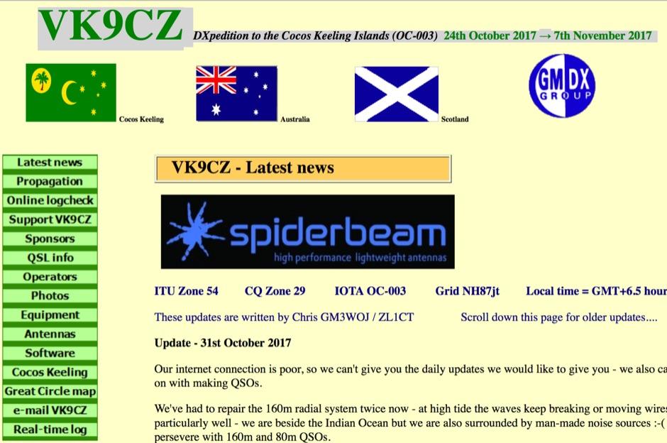VK9CZ Cocos Keeling Islands DXpedition