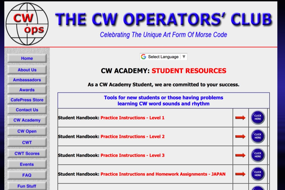 CW Ops - Morse Code Practice Files