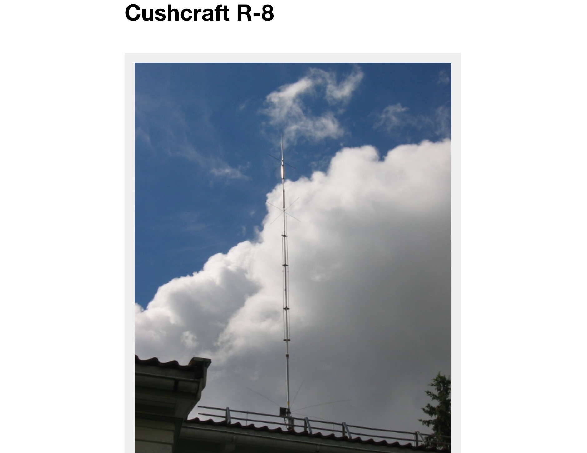 Cushcraft R-8 review