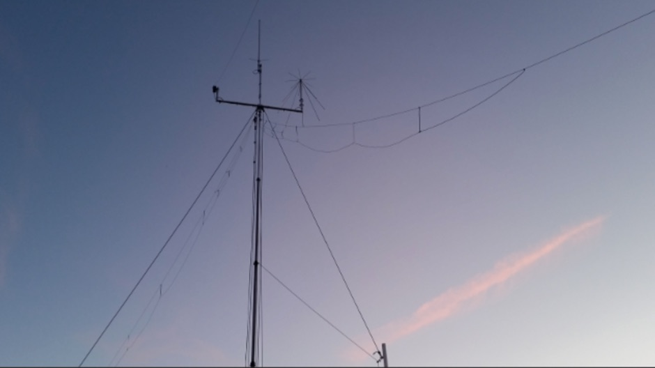 Fan Dipole Antenna for 40 20 and 6 meters