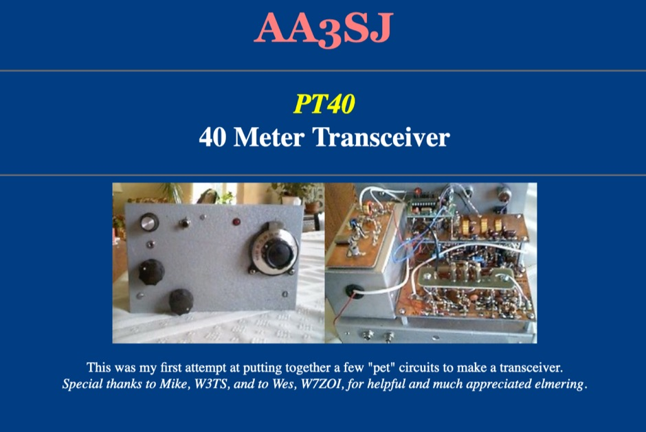 PT40 7 MHz Transceiver by  AA3SJ