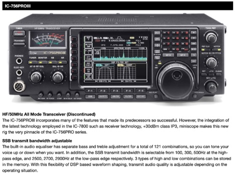 Icom IC-756PROIII  - Icom UK Discontinued products