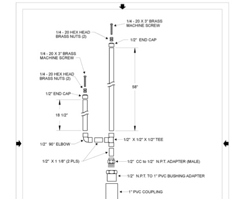 J-Pole Construction Drawings