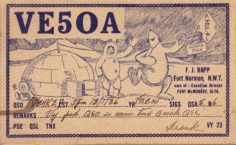 QSLs from early Amateur Radio In The Canadian Arctic