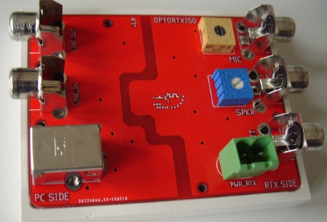 Optocoupled Transceiver-PC Audio Isolator project